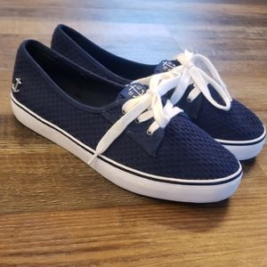 Nautica womens blue and white sneakers size 9